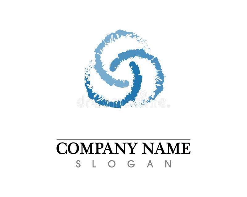 Het embleem van het golvenstrand en van het symbolenmalplaatje pictogrammen app stock illustratie
