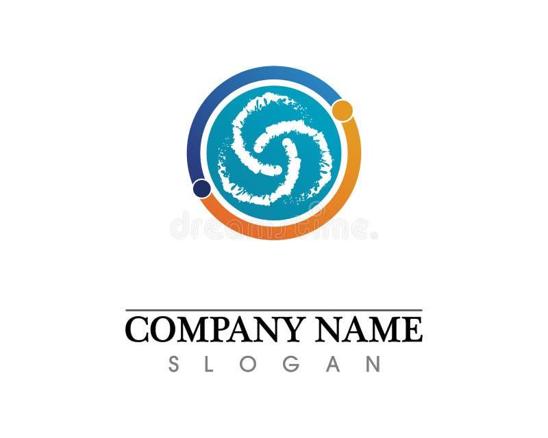 Het embleem van het golvenstrand en van het symbolenmalplaatje pictogrammen app royalty-vrije illustratie