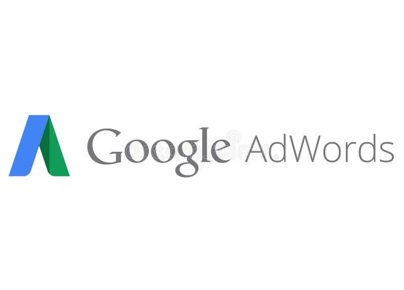 Het embleem van Google AdWords stock illustratie
