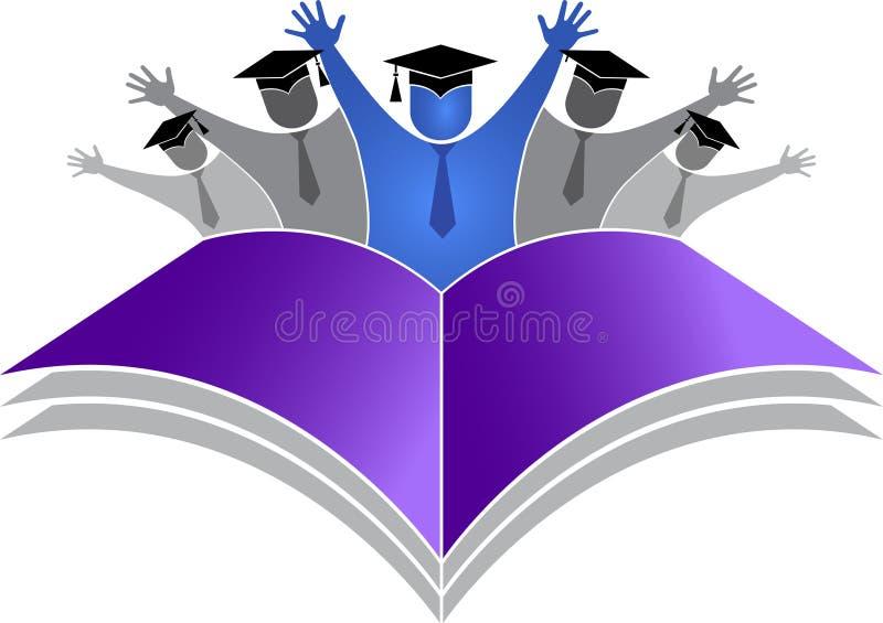 Het embleem van graduatiestudenten vector illustratie