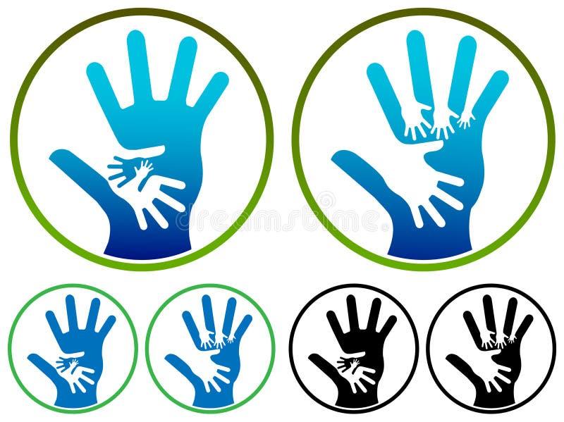 Het embleem van handen royalty-vrije illustratie