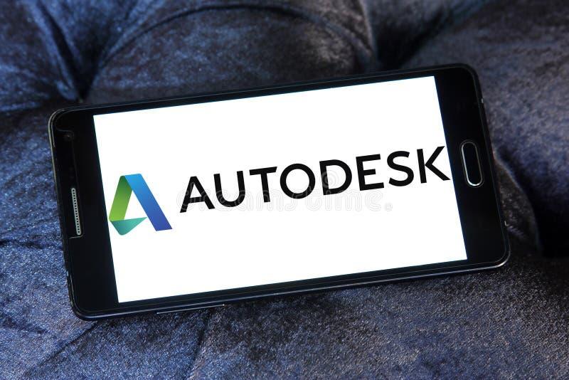 Het embleem van het Autodeskbedrijf stock foto's