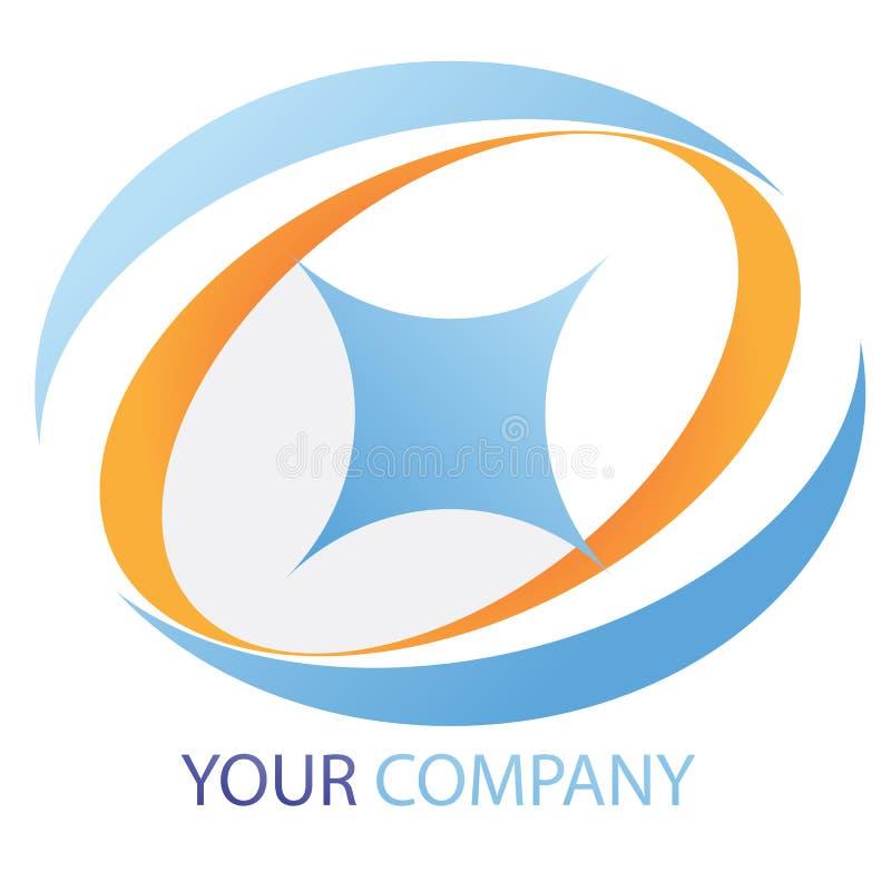 Het embleem van het bedrijf royalty-vrije illustratie