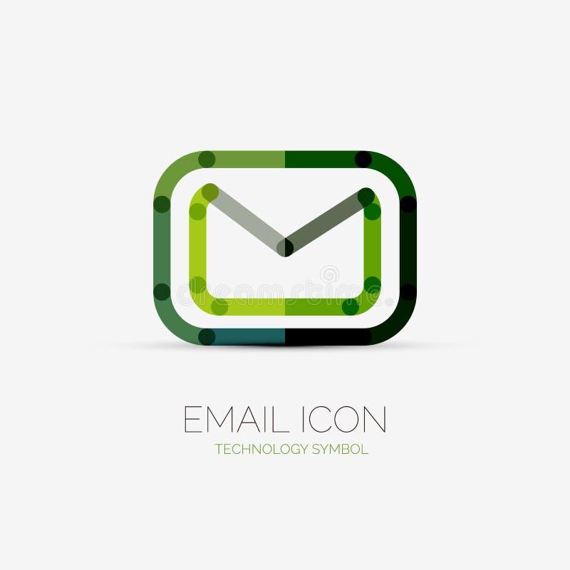 Het embleem van het e-mailpictogrambedrijf, bedrijfsconcept vector illustratie