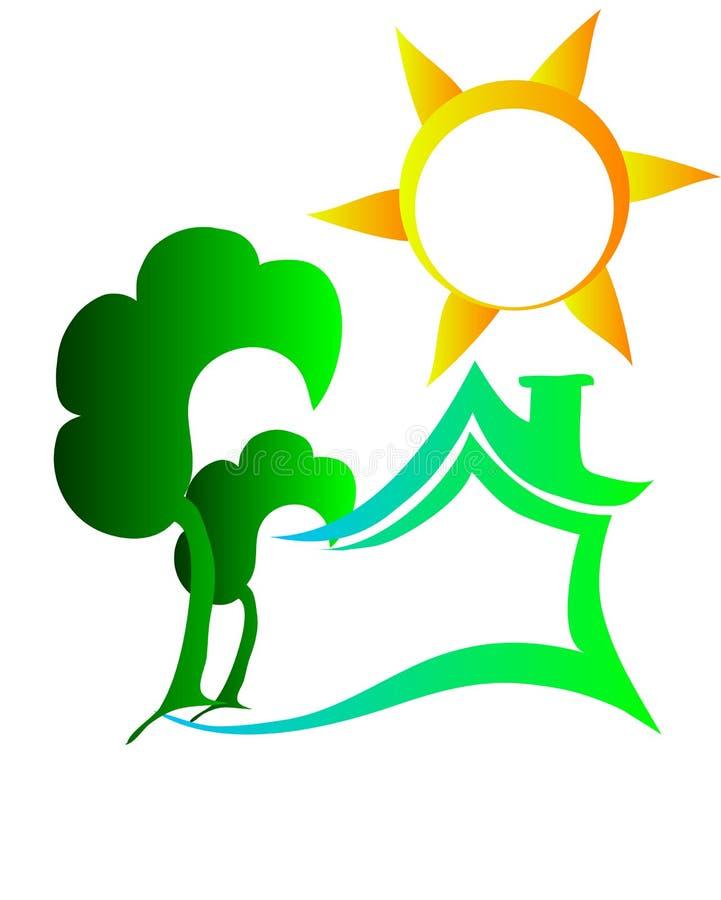 Het embleem van het Ecohuis royalty-vrije stock fotografie