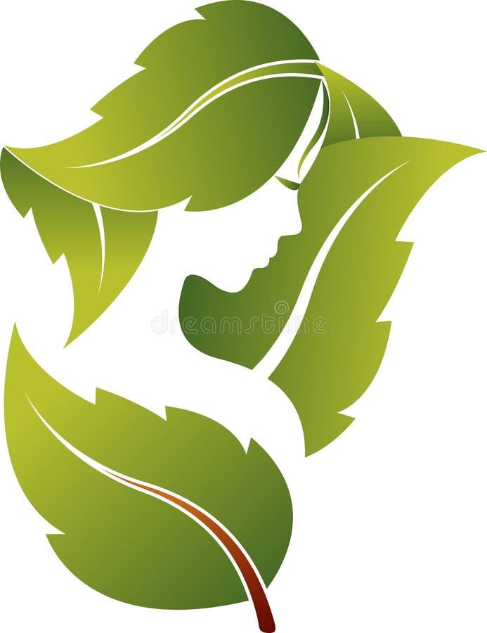 Het embleem van het gezichtsblad vector illustratie