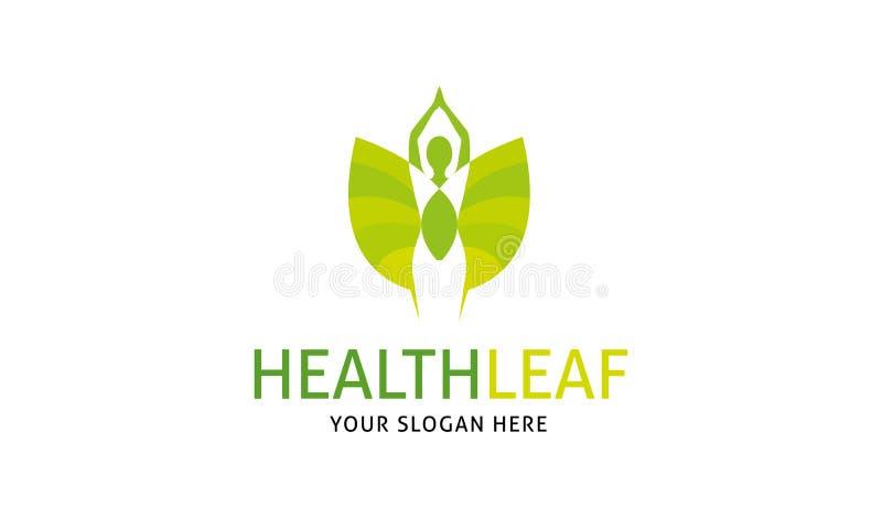 Het Embleem van het gezondheidsblad royalty-vrije illustratie