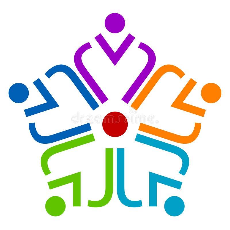 Het embleem van het groepswerk royalty-vrije illustratie