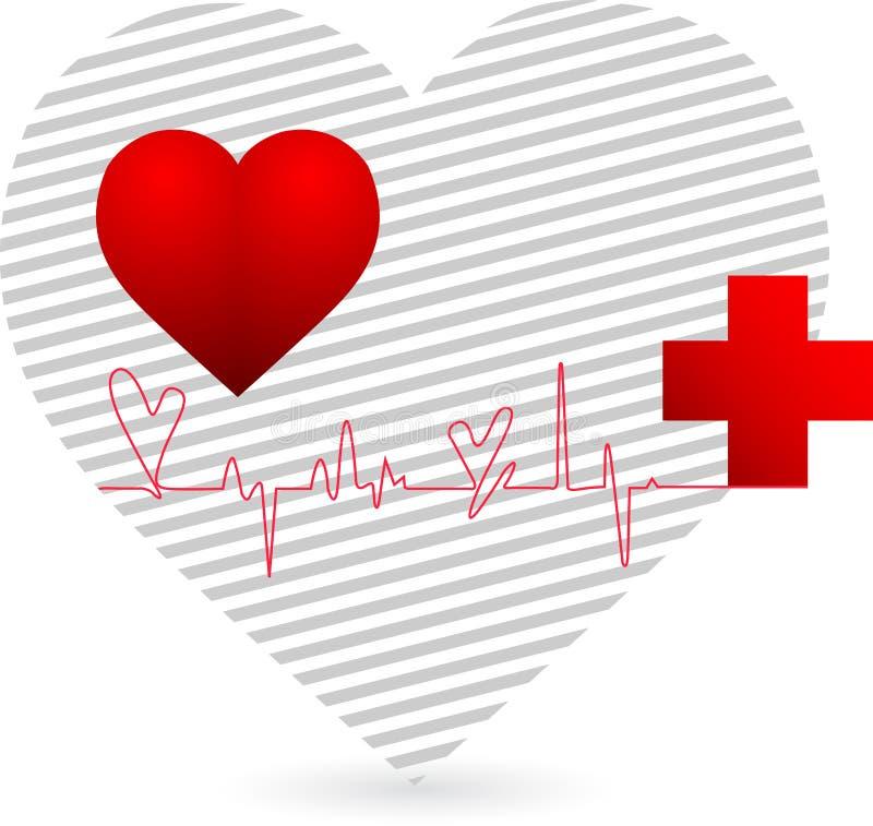 Het embleem van het hart royalty-vrije illustratie