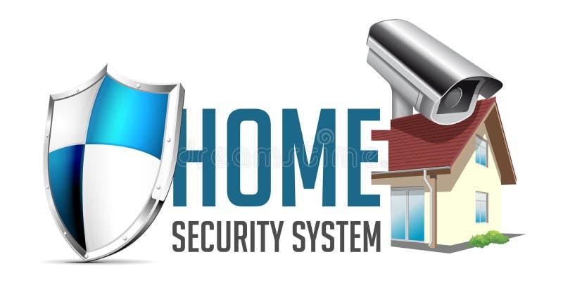 Het embleem van het huisveiligheidssysteem stock illustratie