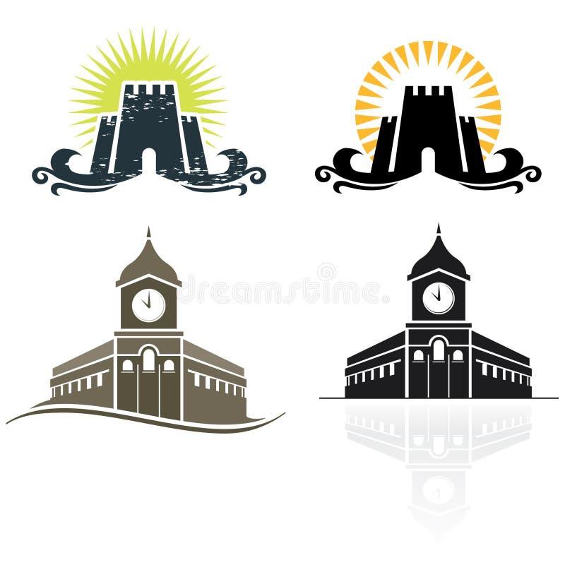 Het embleem van het kasteel vector illustratie