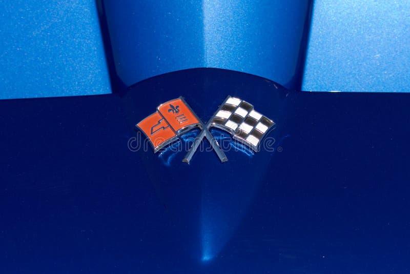 Het Embleem van het Korvet van Chevrolet stock fotografie