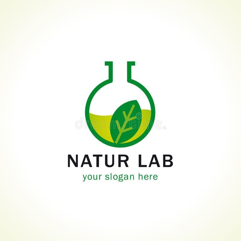 Het embleem van het Naturlaboratorium vector illustratie