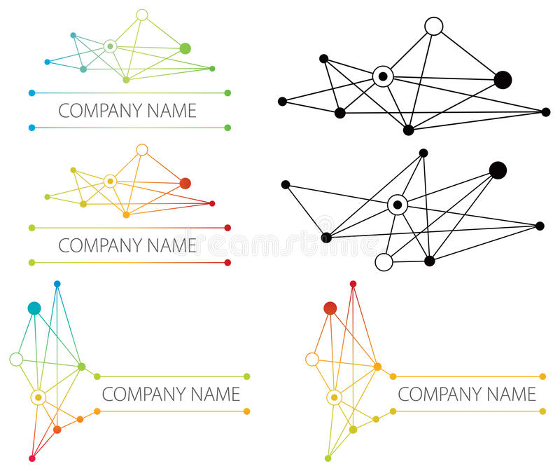 Het embleem van het Netwerk van de aansluting vector illustratie