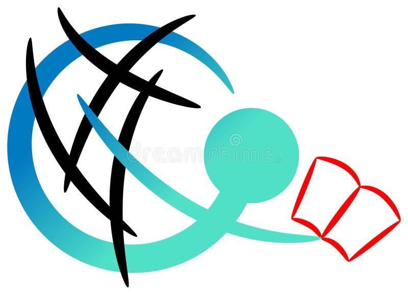 Het embleem van het onderwijs vector illustratie