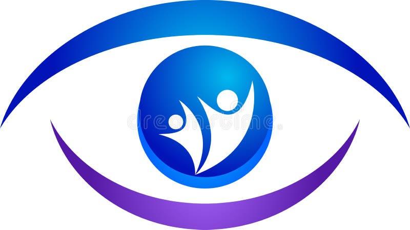 Het embleem van het oog royalty-vrije illustratie