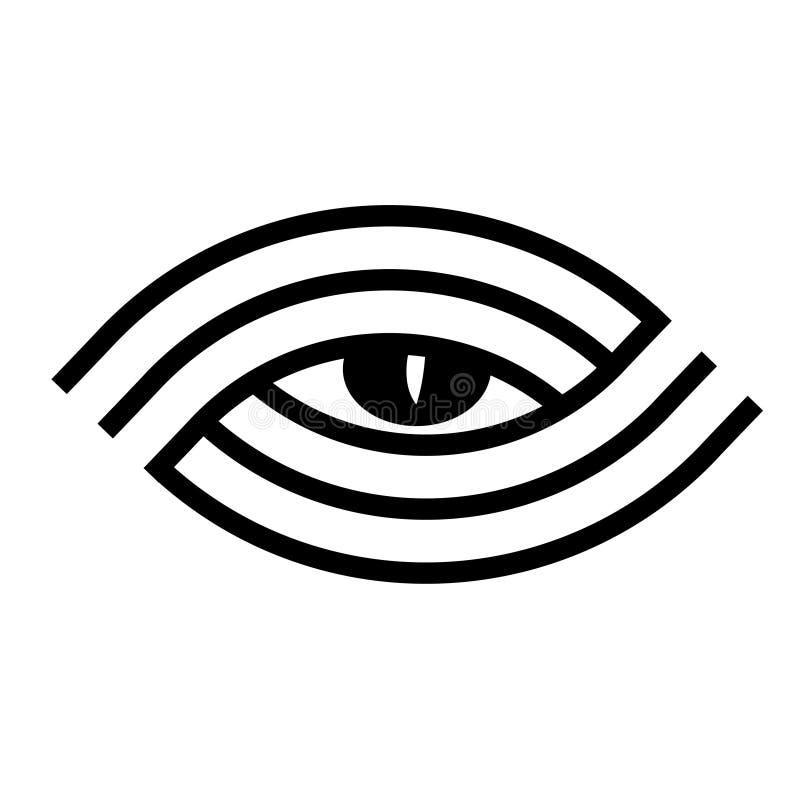 Het embleem van het oog stock illustratie