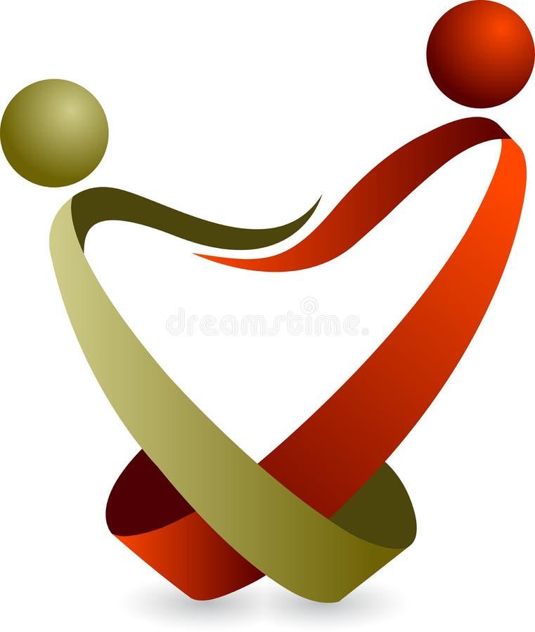 Het embleem van het paar vector illustratie
