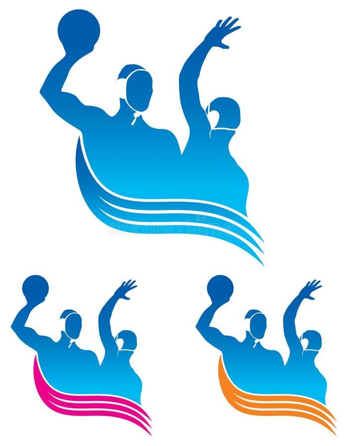 Het embleem van het Polo van het water stock illustratie
