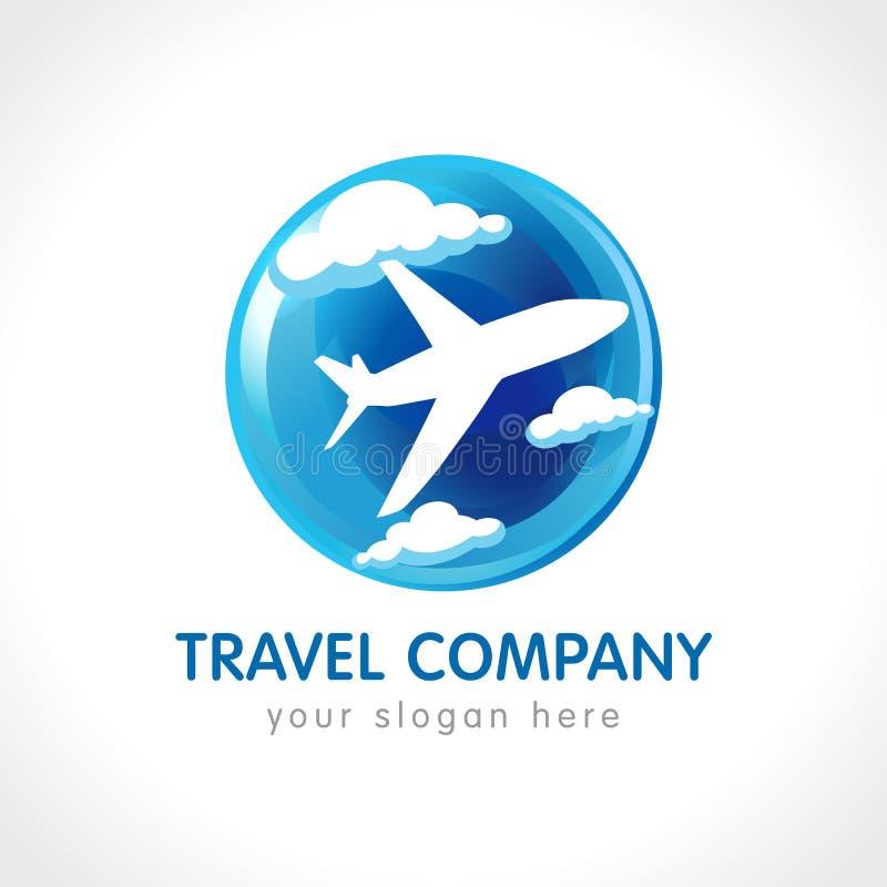 Het embleem van het reisbedrijf royalty-vrije illustratie