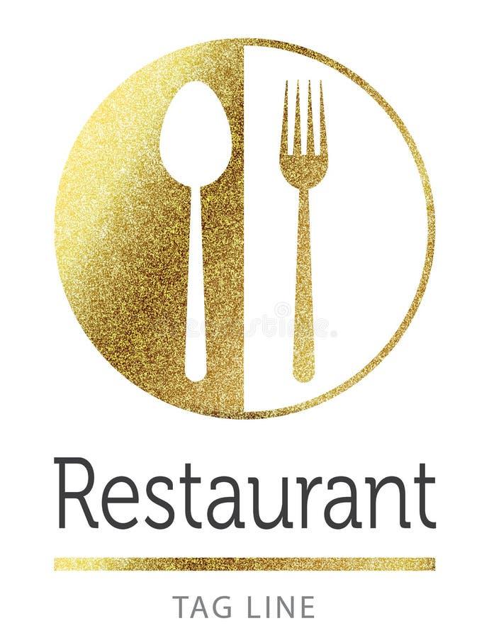 Het embleem van het restaurant stock illustratie