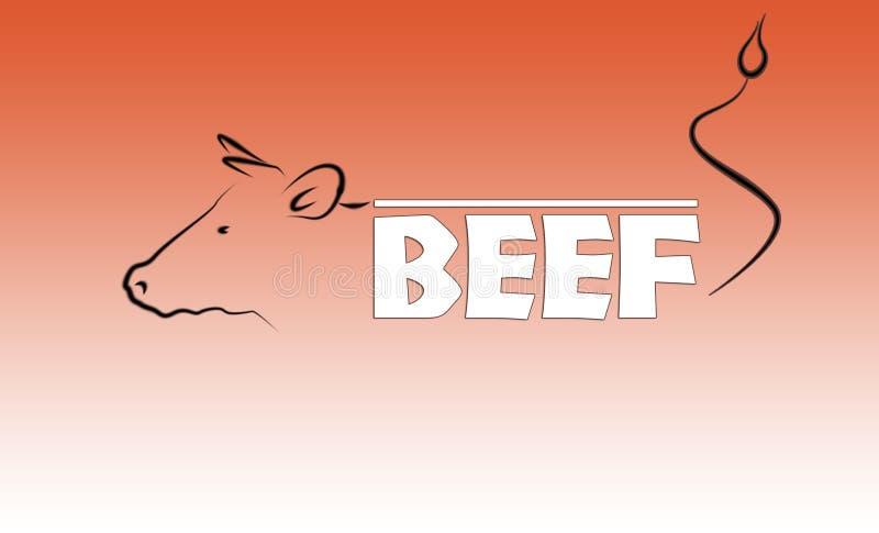 Het embleem van het rundvlees stock illustratie