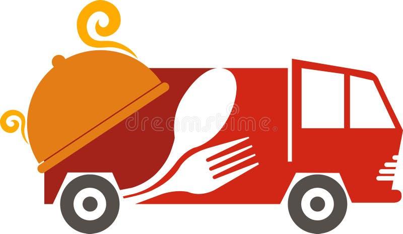 Het embleem van het snel voedselvoertuig stock illustratie