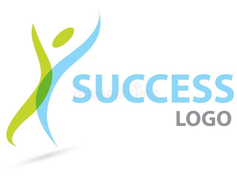 Het embleem van het succes vector illustratie