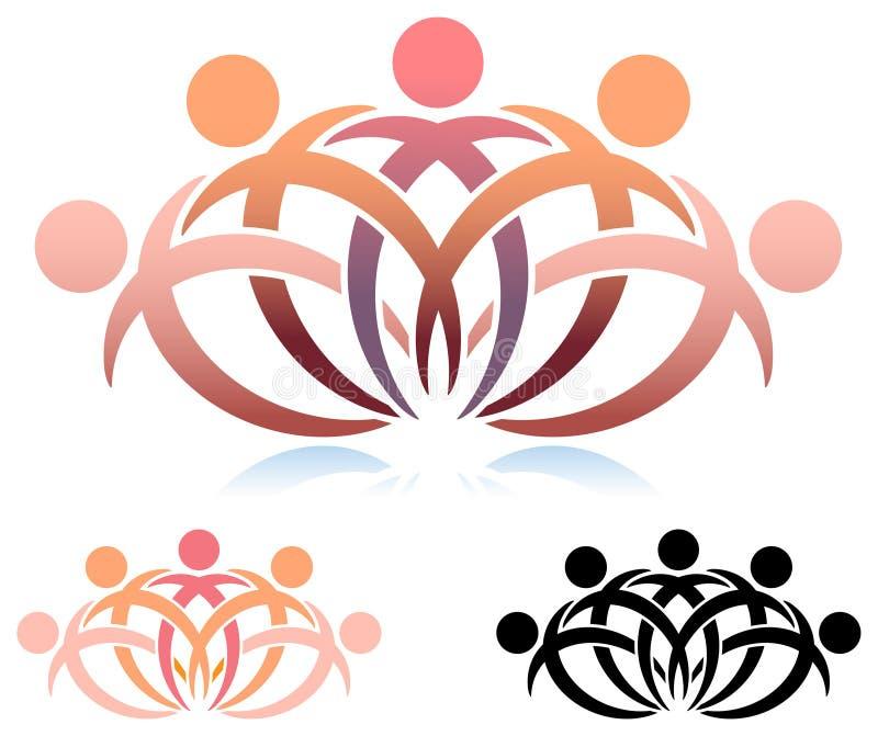 Het embleem van het teamwerk vector illustratie