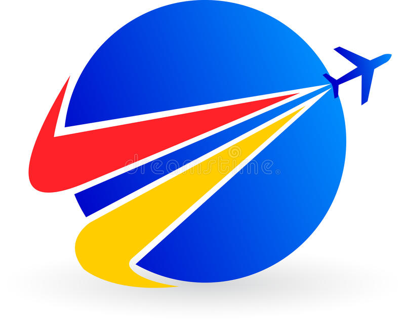 Het embleem van het vliegtuig vector illustratie