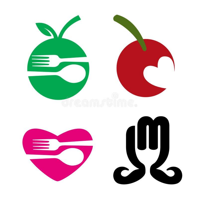 Het Embleem van het Voedsel van het restaurant vector illustratie