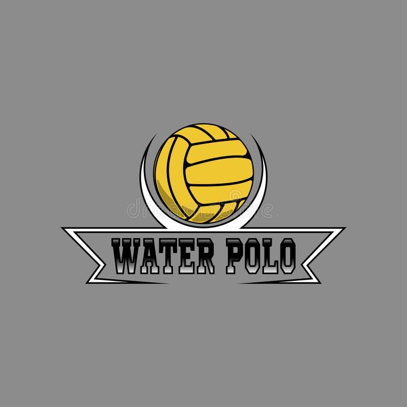 Het embleem van het waterpolo voor het team en de kop royalty-vrije illustratie