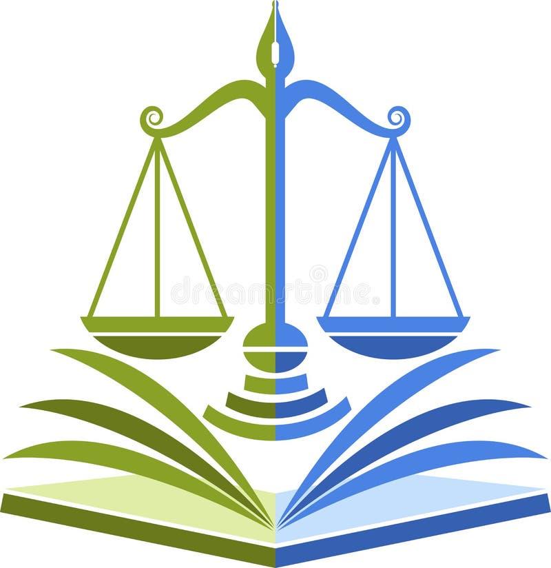 Het embleem van het wetsonderwijs vector illustratie
