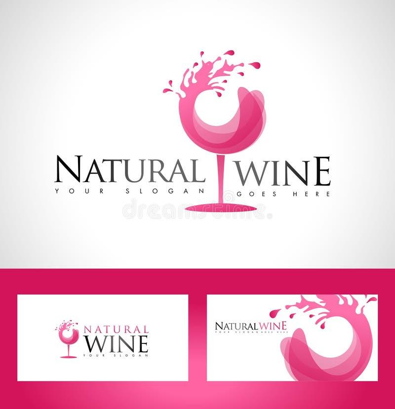 Het Embleem van het wijnglas stock illustratie