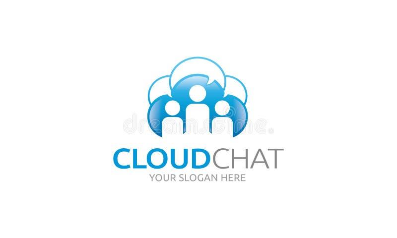 Het Embleem van het wolkenpraatje stock illustratie