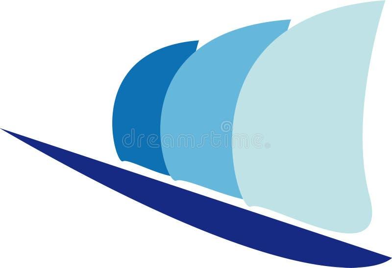 Het embleem van het zeil stock illustratie