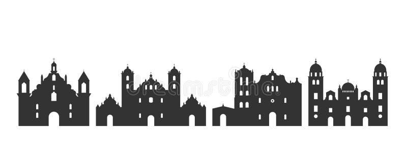 Het embleem van Honduras Geïsoleerde Honduran architectuur op witte achtergrond stock illustratie