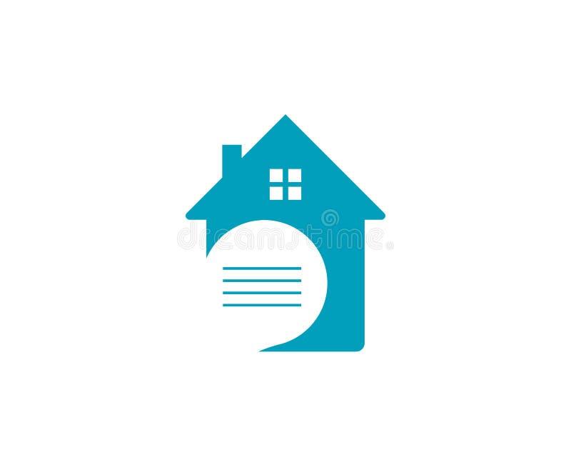 het embleem van huisgebouwen en symbolenpictogrammen vector illustratie