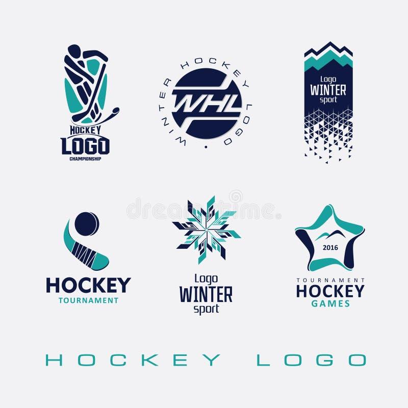 Het embleem van ijshockeytoernooien stock illustratie