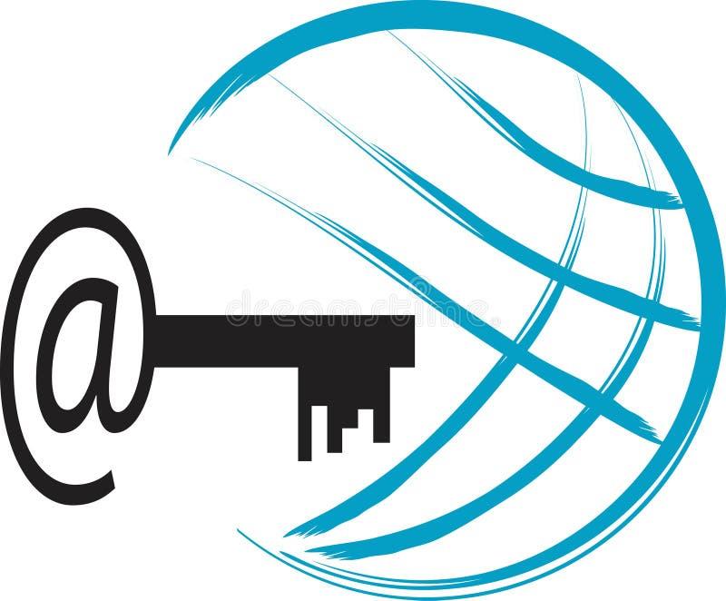 Het embleem van Internet stock illustratie