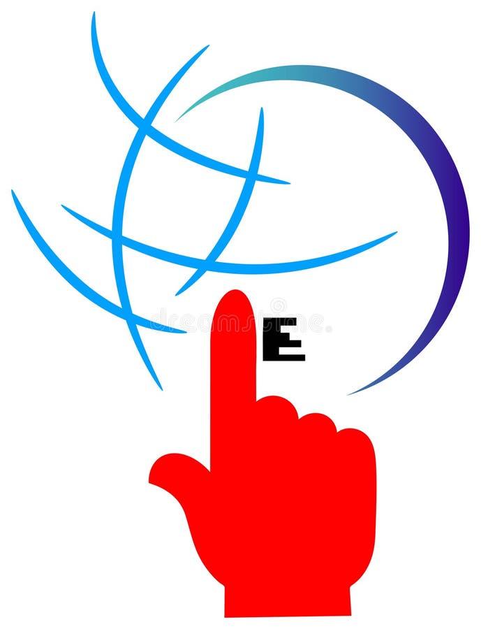 Het embleem van Internet royalty-vrije illustratie