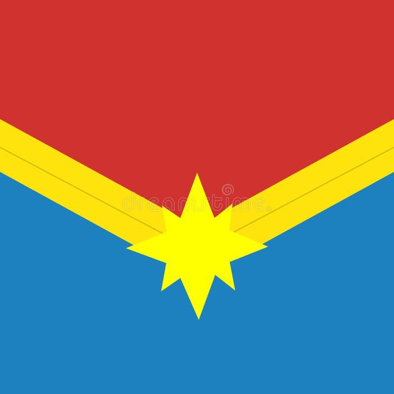 Het embleem van het kapiteinswonder Wonderfilms Superheropictogram stock illustratie