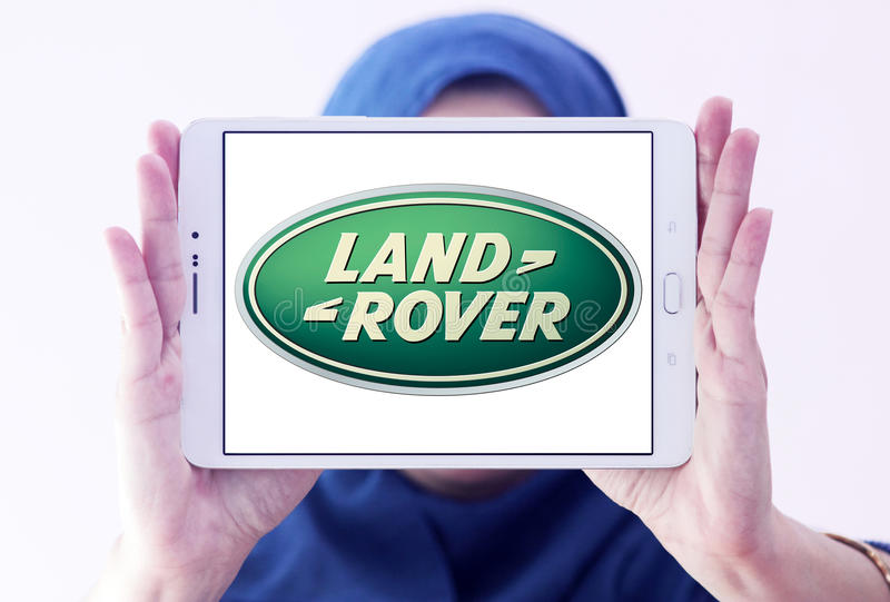 Het embleem van Land Rover stock afbeeldingen