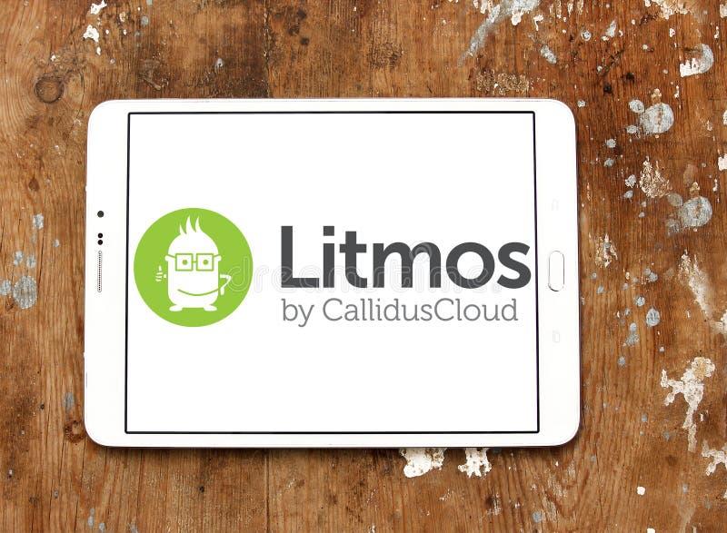 Het embleem van het Litmosplatform stock afbeeldingen