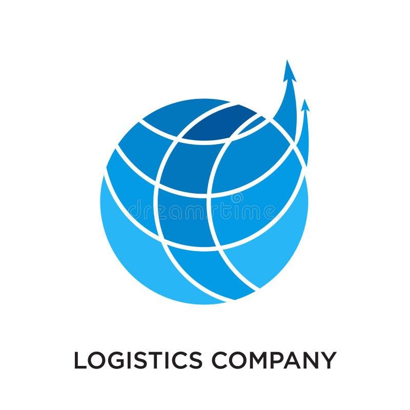 het embleem van het logistiekbedrijf op witte achtergrond voor uw Web wordt geïsoleerd dat vector illustratie