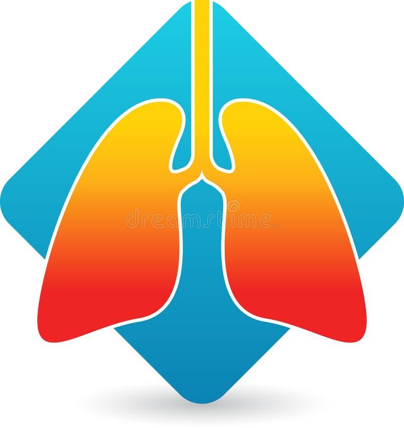 Het embleem van longen vector illustratie