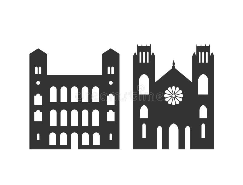 Het embleem van Madagascar De geïsoleerde architectuur van Madagascar op witte achtergrond stock illustratie