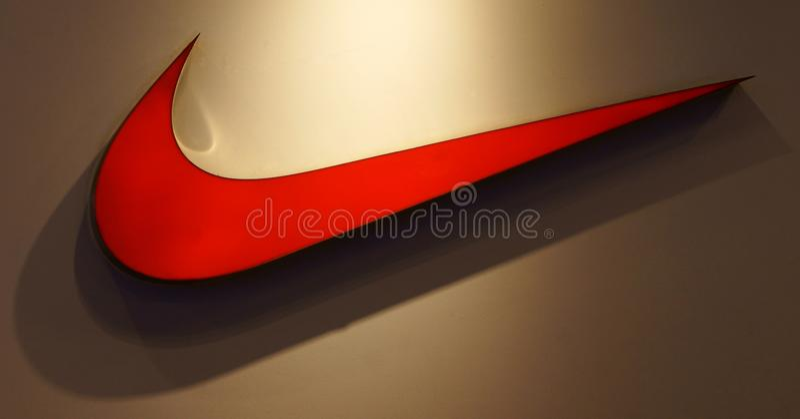 Het embleem van Nike stock foto