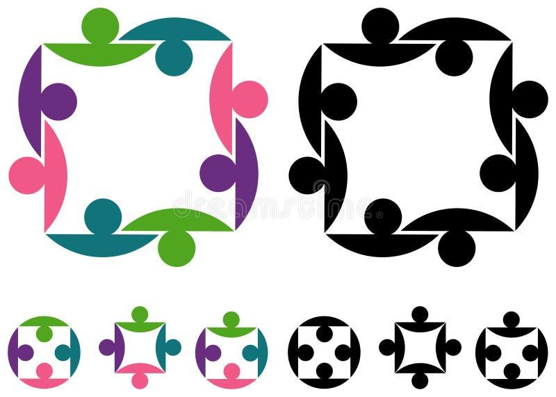 Het embleem van paren vector illustratie