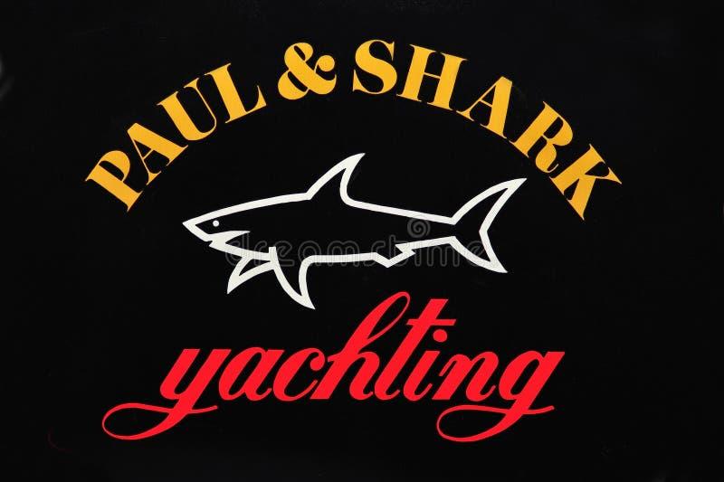 Het embleem van Paul en van de haai stock afbeeldingen